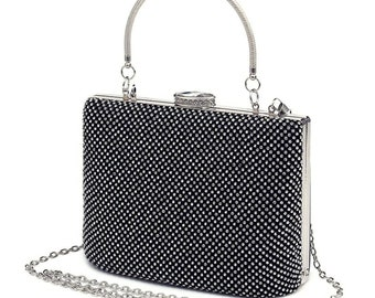Beautiful Starlet Luxe Crystal Bag, Bridal Bag, Wedding Bag,  Gold, Silver or Black Deluxe Party or Event Accessories