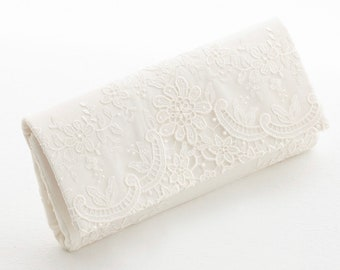 Beautiful Classic Bridal Lace Clutch Bag, Bridal Bag, Wedding Bag, Ivory Deluxe Party or Event Clutch Bag