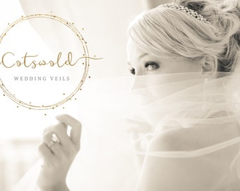 "Waist Length Cut Edge Veil - Single Layer Soft Tulle Wedding Veil 28"", 28 inches, 70 cm - Ivory Veil"