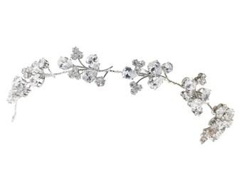 Glitzy Sparkle Hair Vine, Crystal Hair Vine, Wedding Hair Accessories, Available in Silver,  Bridal Accessories, Bridal Hair