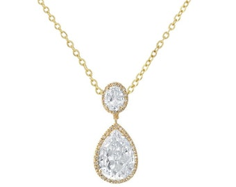 Stunning Sheer Elegance Crystal Necklace, Available in Gold, Silver or Rose Gold, Wedding Jewellery, Bridal Accessories (matching earrings)