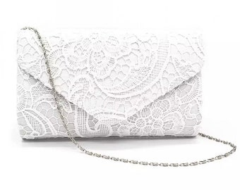 Beautiful Vintage Inspired Bridal Lace Envelope Clutch Bag, Bridal Bag, Wedding Bag, Party or Event Clutch Bag - Various Colours