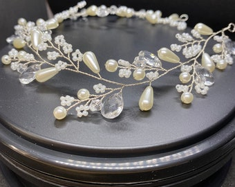 Dainty Diva Hairvine, Hair Accessories, Available in Silver, Bridal Accessories, Bridal Hair Vine, Wedding Accessories