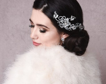 Beautiful Starlet Allure Headpiece, Vintage Wedding Hair Accessories, Available in Silver, Bridal Accessories, Bridal