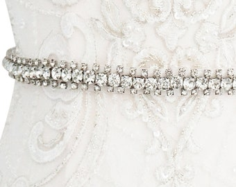 Beautiful Bridal Belt, Crystal Chic Belt,  Wedding Dress Belt