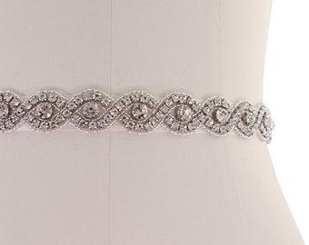 Beautiful Bridal Belt, Vintage Inspired Belt,  Wedding Dress Belt