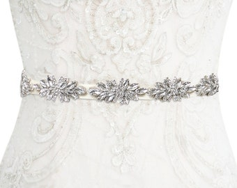 Starlet Crystal Belt, Crystal Embellished Bridal Belt,  Beautiful Wedding Dress Belt, Bridal Gown Sash