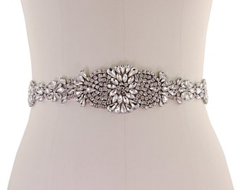 Beautiful Bridal Belt, Exquisite Crystallure Belt,  Wedding Dress Belt