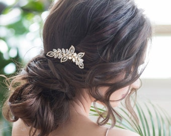 Bridal Hair Comb, Pearl Shimmer Hair Comb, Silver, Rose Gold or Gold, Bridal Accessories, Bridesmaid Hair Combs, Wedding Hair