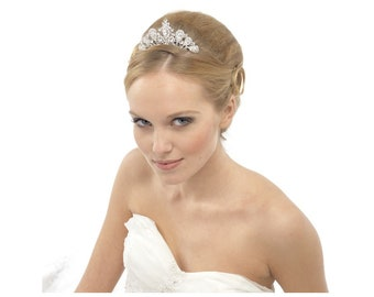 Bridal Tiara, Wedding Tiara Comb, Bridal Accessories, Rose Gold or Silver Tiara Comb, Brides, Bridesmaid, Precious Crystal