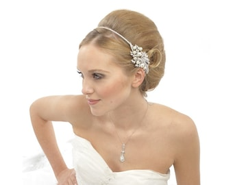 Vintage Pearl Headband, Bridal Accessories, Bridesmaid Hair, Beautiful Bridal Head Band