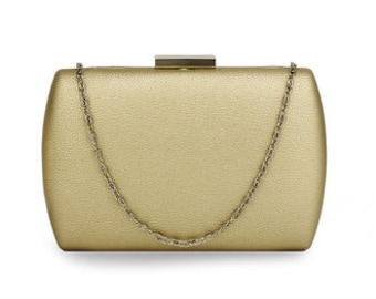 Beautiful Classic Hard Case Clutch Bag, Bridal Bag, Wedding Bag, Deluxe Party or Event Clutch Bag
