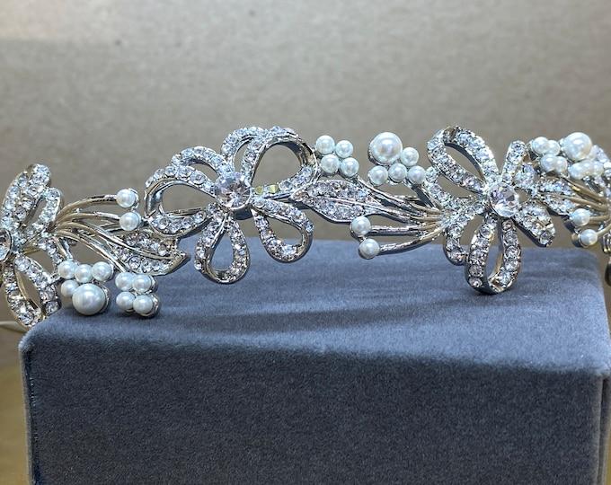 Featured listing image: Beautiful Bridal Headband, Chic Crystal Treasure Headband,  Silver, Gold or Rose Gold Bridal Accessories, Bridesmaid Hair
