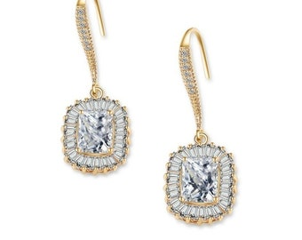 Sheer Elegance Gold Crystal Earrings, Available in Gold, Wedding Jewellery, Bridal Accessories