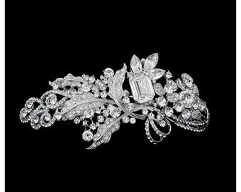 Beautiful Luxury Gatsby Glam Style Headpiece, Bridal Accessories, Bridesmaid Hair, Bridal Headpiece, 1920's