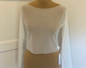 Beautiful Stretch Long Sleeved Tulle Bolero - Wedding Accessories, Wedding Cover Up,