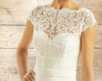 Swirl Lace Bolero - Wedding Dress Cover Up, Bridal Accessories,  Stunning Lace Cover Up, Bridal Top