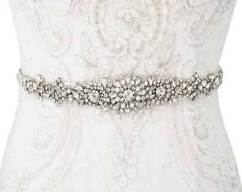 Beautiful Bridal Belt, Luxe Crystal & Pearl Belt, Wedding Dress Belt