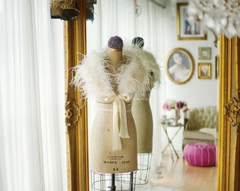 Ostrich Feather Stole - Beautiful High Quality Shrug, Wrap, Various Colours