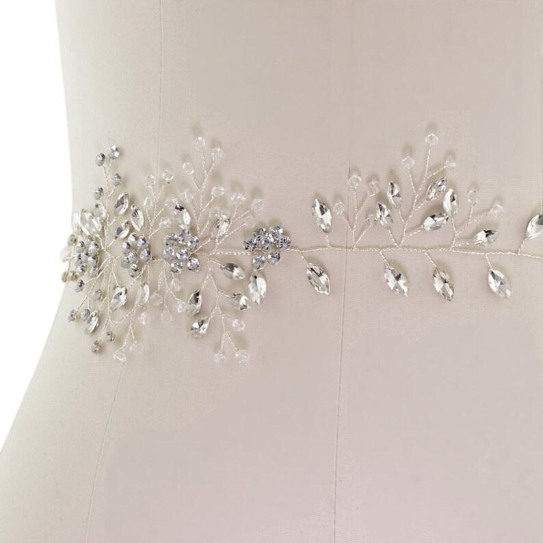 Wedding Dress Belt Crystal Vine Belt Beautiful Bridal Belt