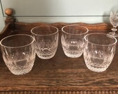 Waterford Old Fashioned Colleen Cut Set of 4 Glasses immaculate condition Tumbler Whisky Cut Glass Crystal