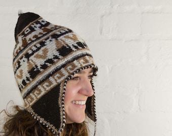 6321faba031 Hand Crochet Alpaca Wool Chullo from Bolivia - Unisex