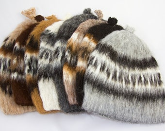 489bee6cb6a Hand Knitted Alpaca Wool Round Hat from Bolivia - Unisex