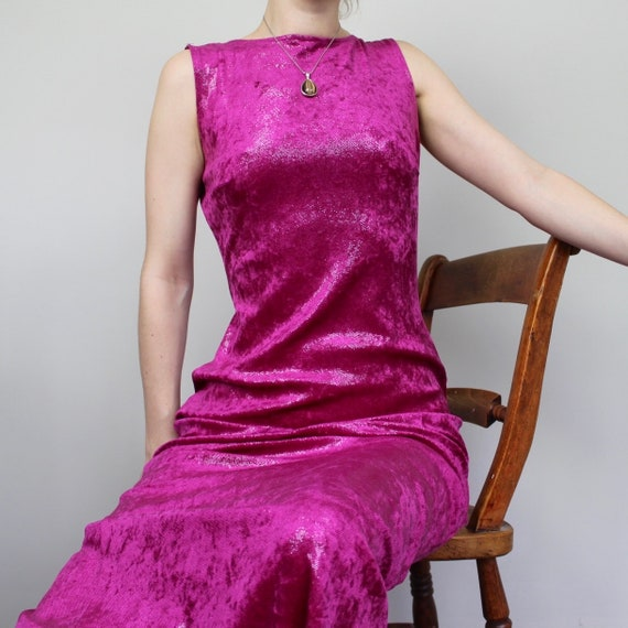 Hot Pink Vintage Evening Dress
