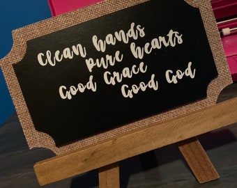 Small Chalkboard Quote Saying Home Decor 4 Inches
