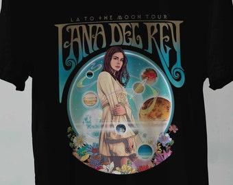 a555fbe84 Lana Del Rey T Shirt LA to the Moon, Lana Del Rey Shirt, Lana Del Rey Tshirt,  Lana Del Rey Tee, Lana Del Rey Tour Unisex All Size S-2XL