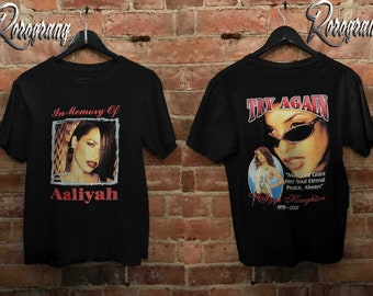 99aac974e Aaliyah T Shirt In Memory of Aaliyah 90's Clothing Unisex All Size S-2XL