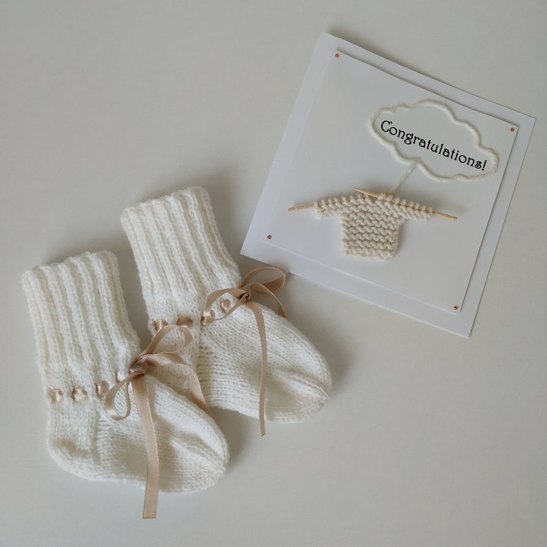 Made To Order CUSTOM Hand-Knitted Newborn Toddler Baby Girl or Boy Cable Socks