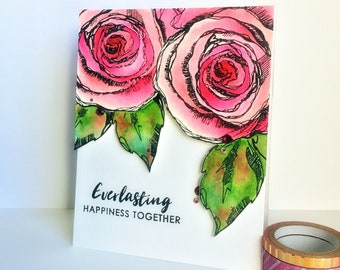Eaverlasting Happiness card/Annivwersary card/I Love You Cards/Gift ideas/For him/For Her/For her/Made in Canada/Ottawa/Valentines Day Card
