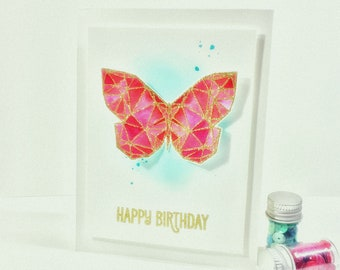 Happy Birthday/Butterfly Birthday Cards/Happy Birhtday Cards/Birthday Cards/Gold Embossed Cards/Made In Canada/Made In Ottawa/Birthday Gifts
