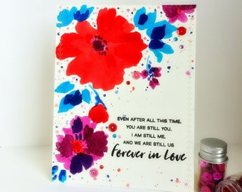 Forever In Love/Valentine's Day Card/Anniversary Card/Card For Her/Love Notes/Card For Him/Love You Cards/Greeting Card/Made In Canada