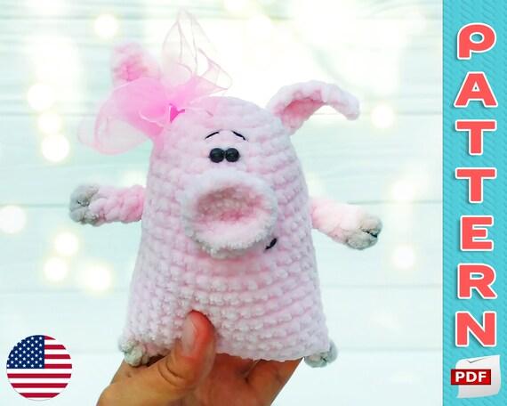 Mini pig free amigurumi pattern | Amigurumi Space | 456x570