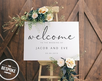 Wedding sign // Welcome Sign // Wedding Decor // Welcome to our wedding
