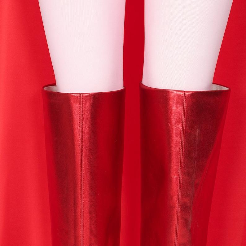 WandaVision Scarlet Witch Wanda Maximoff Cosplay Costume Women Girls Cloak Dress Outfits Halloween Carnival Costume