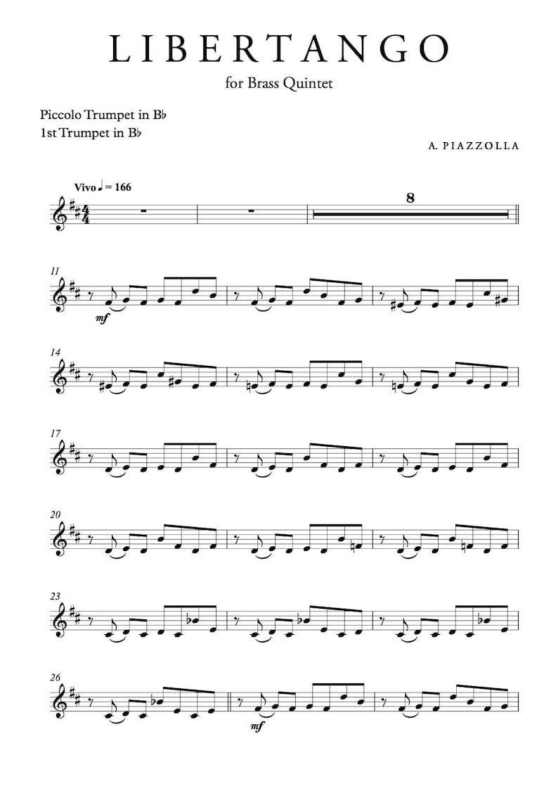 Libertango for Brass Quintet - Astor Piazzolla