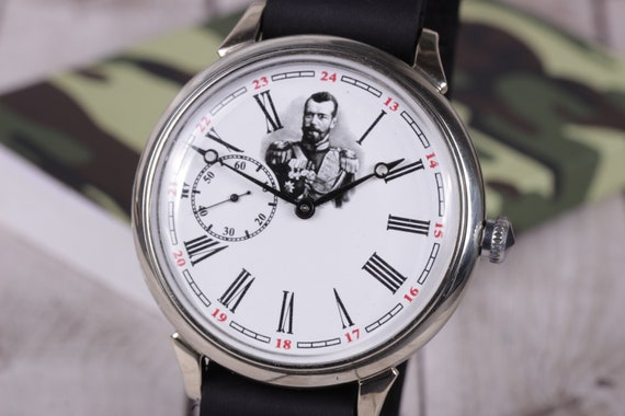 Wrist watch Molnija, Nicholas II, Russian watch, m