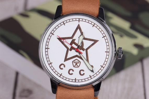 Wrist watch Raketa USSR Star, Vintage Mens Watch,