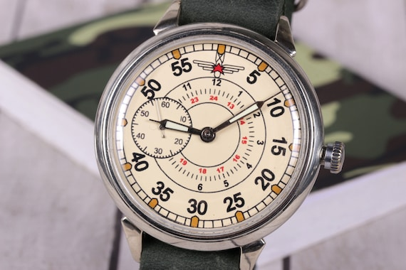 Wrist watch Molnija Aviator Shturmanskie, Russian