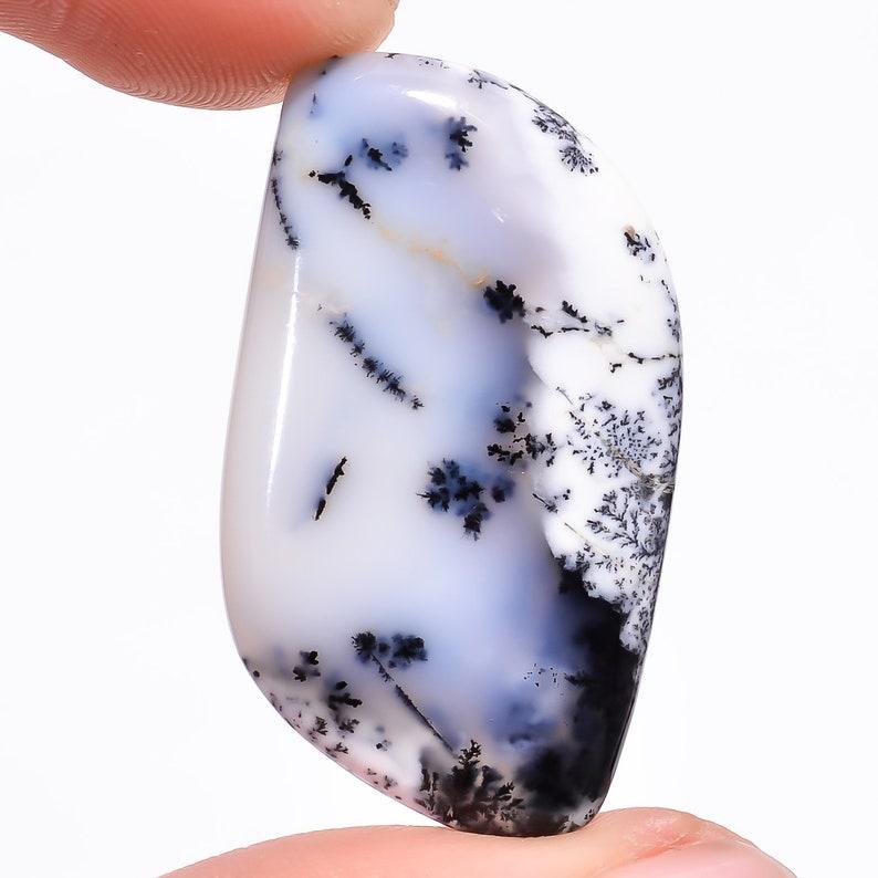 Code SA 5 Natural Dendrite opal Cabochon Size 36\u00d720\u00d75 MM Weight 31.15 ct