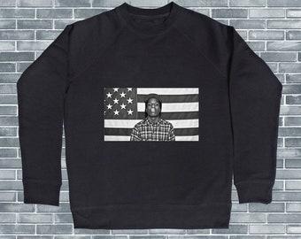 bef18198 ASAP Rocky Crewneck, ASAP Rocky Smoking Face Pullover, Celebrity Inspired  Sweatshirt, ASAP Rocky Sweat, Rapper Design, Asap Rocky Shirt
