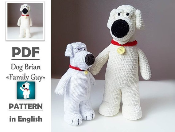 PATTERN Family Guy Brian Crochet toy Stuffed Animals Dog