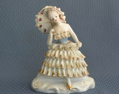 Lady with Parasol Figurine