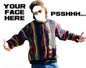 PSH PSHHH CUSTOM Face Ed Bassmaster Funny T-Shirt Tee Shirt
