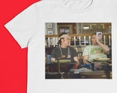 Brennan & Dale Fight Aftermath - Prestige Worldwide - Step Brothers Sublimated Image Short Sleeve Crew Neck Tee S-XXL