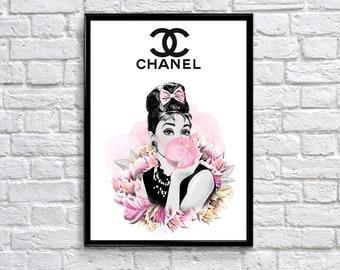 6a9aff3480632 Chanel art | Etsy