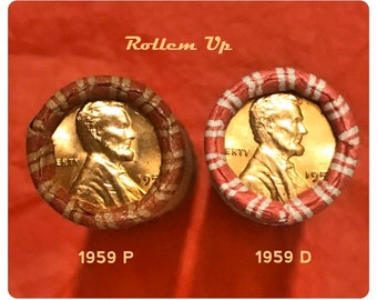 Red Wrapper 1974-P Uncirculated LINCOLN CENT ROLL